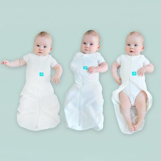 ErgoPouch Organic Cotton ErgoCocoon 2 in 1 Zip Up Swadlle and Sleep Sack ( 0.2 Tog)
