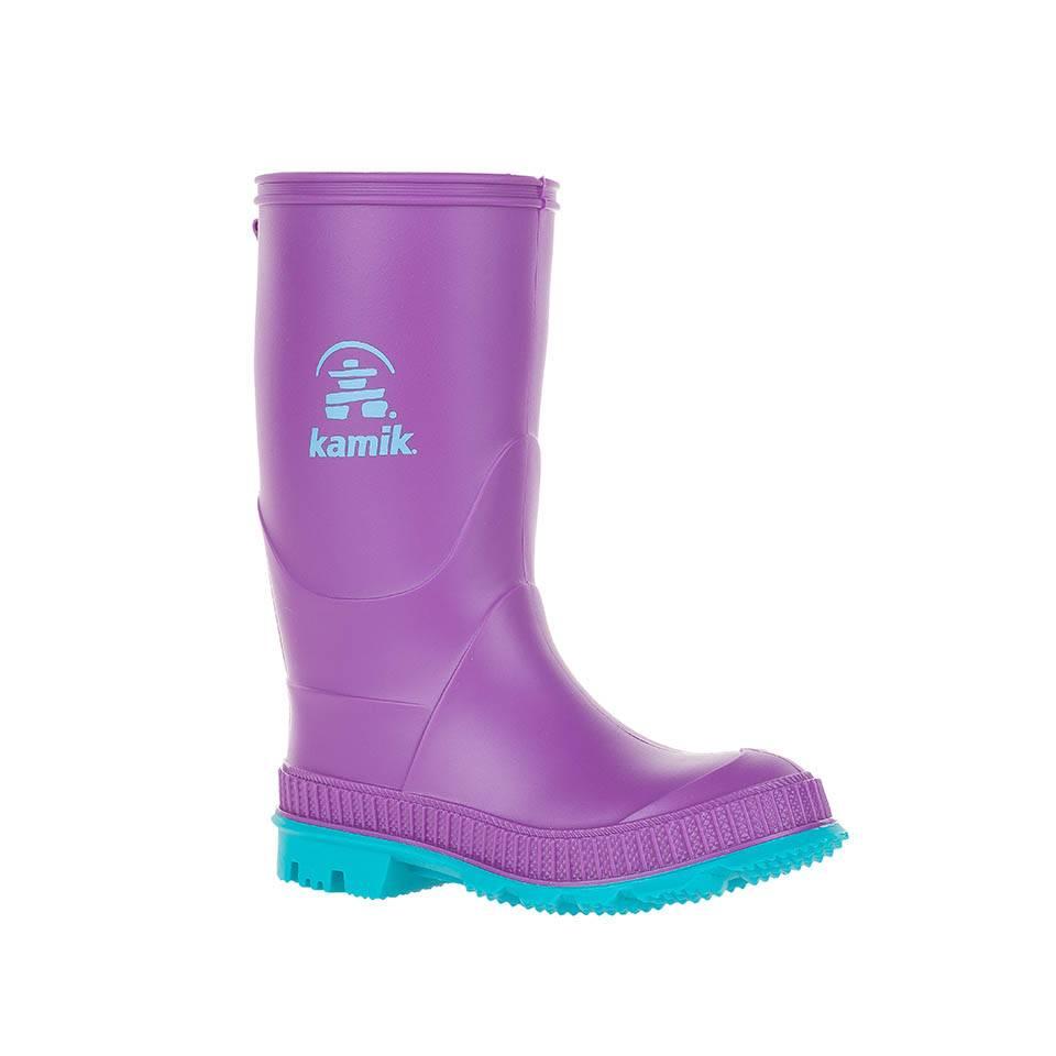 Kamik Dewberry Stomp Style Rubber Rain Boots by Kamik