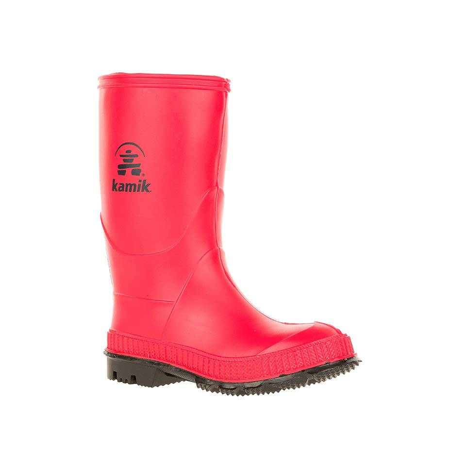 Red Kamik Stomp Rubber Rain Boots For Children In Victoria