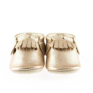 Minimoc Minimocs Metallic w/ Fringe Leather Soft Sole Shoes