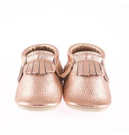 Minimoc Minimocs Metallic w/ Fringe Leather Soft Sole Shoes