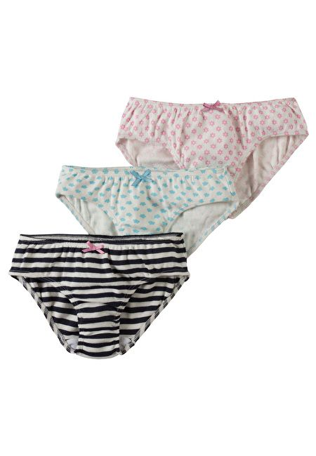 Frugi Organic Cotton Girls Underwear 3-Pack by Frugi