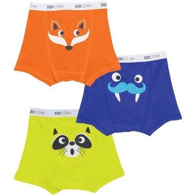Zoocchini Organic Cotton Boys Boxer Briefs Underwear 3-Pack by Zoocchini