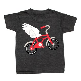 Whistle & Flute Flying Bicycle T-Shirt by Whistle & Flute