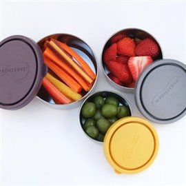 Konserve Nesting Trio Stainless Steel Leak Proof Containers by Konserve