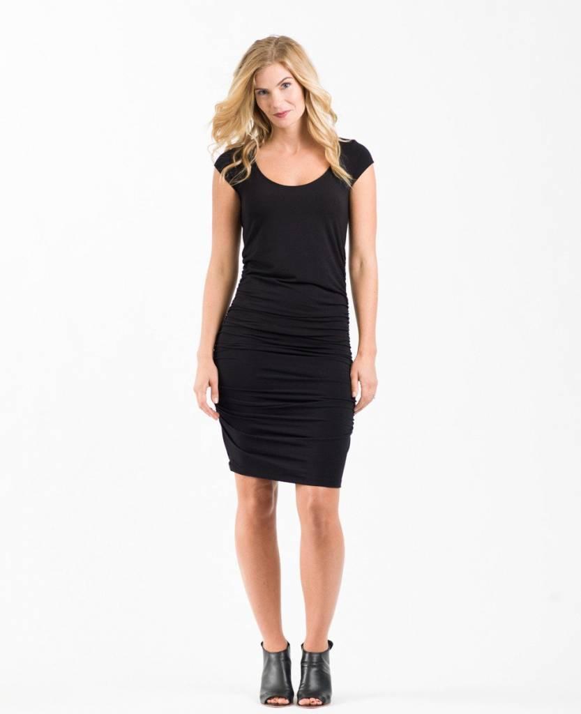 Au Fait Mama Ruched T-Shirt Dress for Pregnancy + Nursing by Au Fait Mama