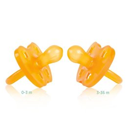 Hevea Natural Rubber Pacifier by Hevea Round Shape -Crown Design