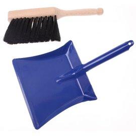 Goki Hand Broom & Metal Dust Pan Set