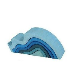 Grimms Water Waves Wooden Stacking Toy by Grimms