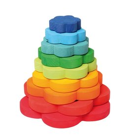 Grimms Wooden Flower Stacker by Grimms
