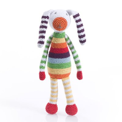 Pebble Crochet Soft Stuff Snimals with Rattle by Pebble (Large)