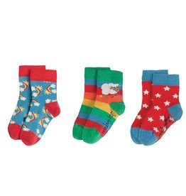 Frugi Little Socks 3-Pack Organic Cotton by Frugi