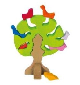 Gluckskafer Wooden Tree with Birds by Gluckskafer
