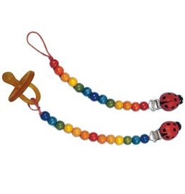Gluckskafer Rainbow Pacifier Chain with Clip by Gluckskafer
