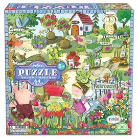 Eeboo Growing a Garden 64-Piece Puzzle by Eeboo