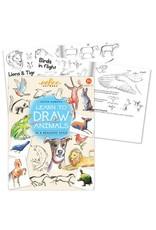 Eeboo Learn to Draw Animals Book