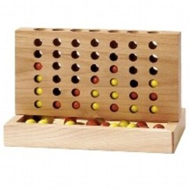 Goki 4 in a Row Wooden Game