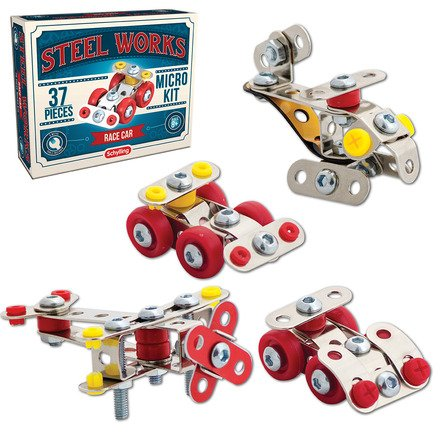 Schylling Steel Works Classic Steel Construction Sets 8+