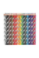 Eeboo Silver Robot 24-Pack Colour Pencil Crayons Tin