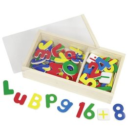 Goki Wooden Magnetic Alphabet & Numbers in Storage Box by Goki