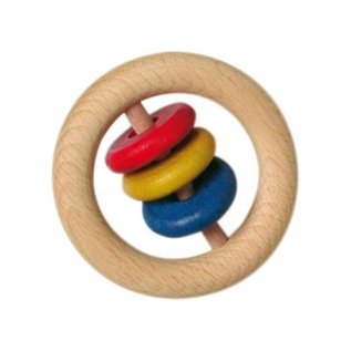 Gluckskafer Large Wood Rattle w/ 3 Slices by Gluckskafer