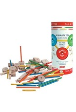 Schylling Makit Toy - Classic Wooden Construction Toy (70 Pieces)