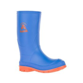 Kamik Blue/Orange Stomp Style Rubber Rain Boots by Kamik