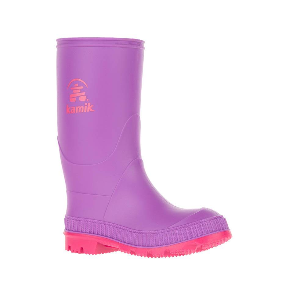 Kamik Purple Stomp Style Rubber Rain Boots by Kamik