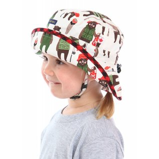Snug as a Bug Cotton Print Adjustable Size Sun Hats by Snug as a Bug