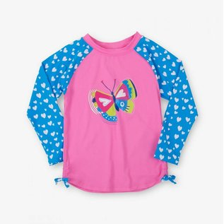 Hatley Long Sleeve UV Protection Rash Guard Shirt (Girls) by Hatley