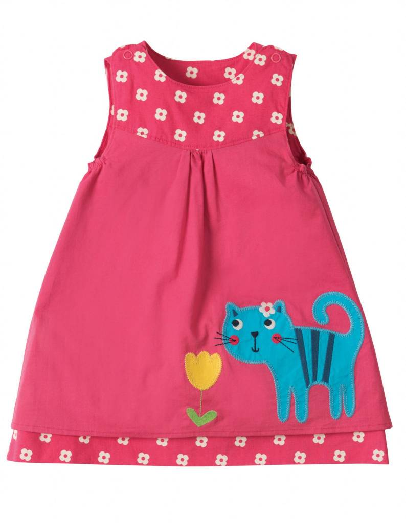 Frugi Organic Cotton Little Girl Reversible Dress by Frugi