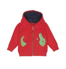 Frugi Little Kids Zip Up Organic Cotton Bertie Hoodie by Frugi
