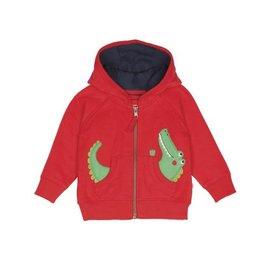 Frugi Little Kids Zip Up Organic Cotton Bertie Hoodie by Frugi
