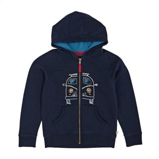 Frugi Lucas Zip Up Hoodie in Organic Cotton by Frugi