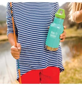 Klean Kanteen Kids Klean Kanteen Stainless Steel Water Bottle 12oz Insulated with Loop Cap