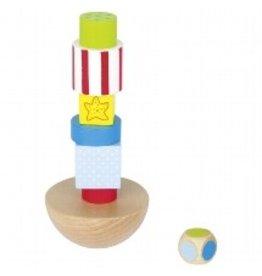 Goki Wind Force 9 Balancing Tower Wooden Game