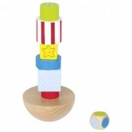 Goki Wind Force 9 Balancing Tower Wooden Game