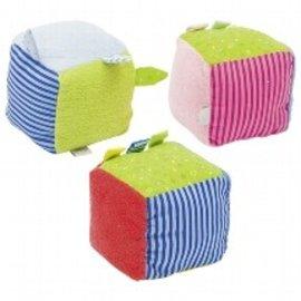 Goki Soft Cube with Rattle