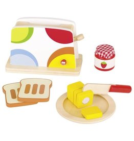 Goki Wooden Toaster Play  Food Set