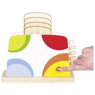 Goki Wooden Toaster Play  Food Set