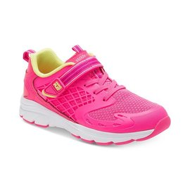Stride Rite Cannan Bright Pink Made 2 Play Running Shoe by Stride Rite