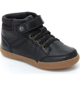 Stride Rite High Top Stone/Black Shoe by Stride Rite