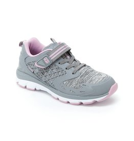 Stride Rite Cannan Grey/Pink Made 2 Play Running Shoe by Stride Rite