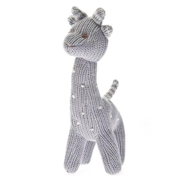 Beba Bean Knit Polka Dot Grey Rattle by Beba Bean