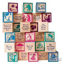 Uncle Goose Nursery Rhyme 28-Piece Wooden Building Blocks (Made in the USA)