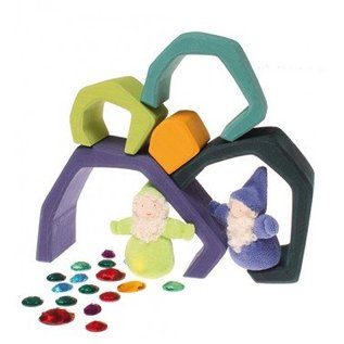 Grimms Wooden Earth Stacking Toy by Grimms