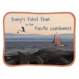 Blue Heron Art Baby's First Year in the Pacific Northwest Keepsake Calendar