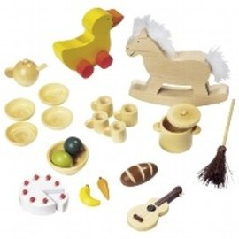 Goki Wooden Dollhouse Accessory Sets by Goki