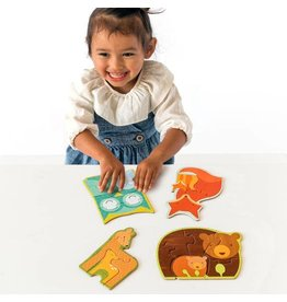 Petit Collage Progressive Beginner Puzzle for 2 Years+ by Petit Collage