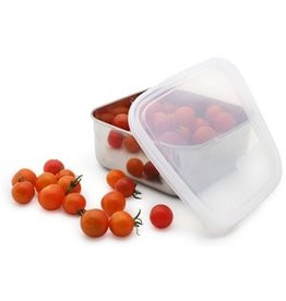 Konserve Stainless Steel Square Container with Clear Leakproof Plastic Lid